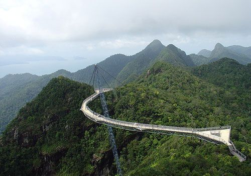 Never have I ever been on the Lankawi bridge in Malaysia.