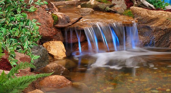 Handmade ponds with waterfalls for homes diy pond6 - How to build a swimming pool waterfall ...