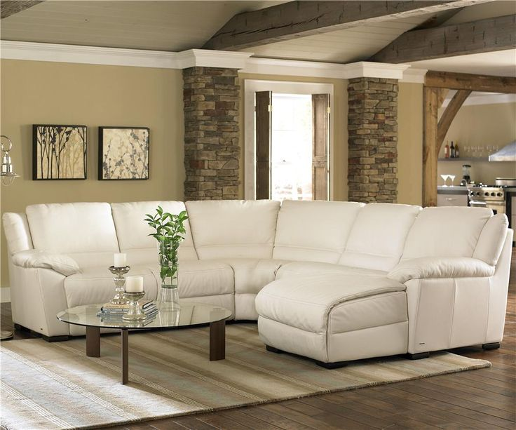 Classic And Cool This Leather Sectional Looks Inviting And