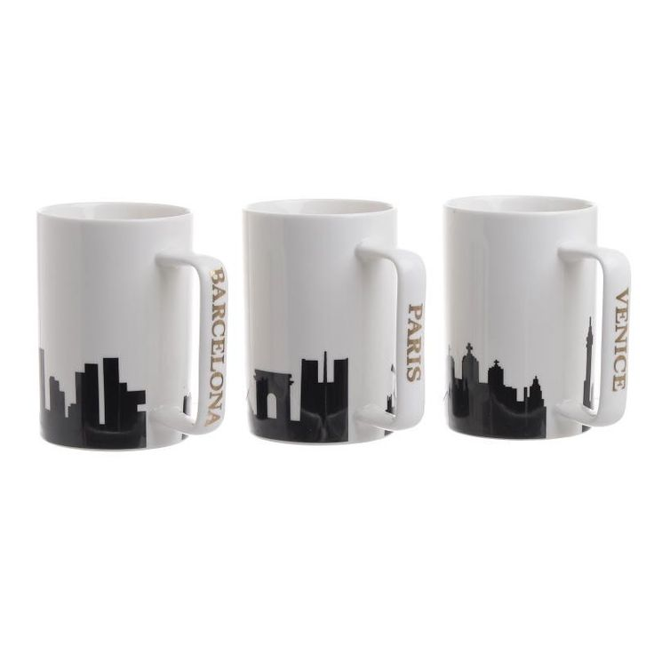 Porcelain Mug Set Of 2 Pieces - Kitchen - HOUSEHOLD - inart