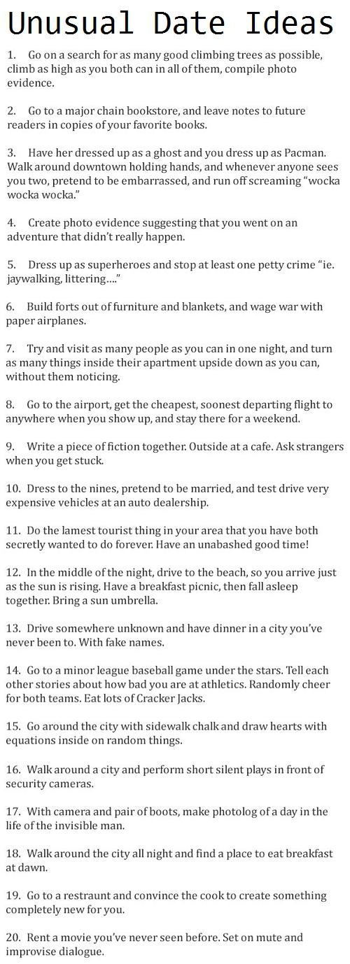 20 Funny Date Ideas