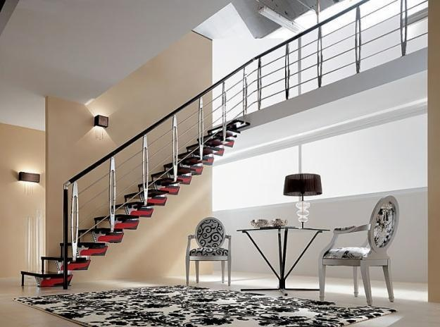 1000 images about barandas de escaleras on pinterest for Escaleras economicas para interiores