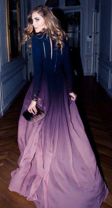 dress, prom dress, maxi, gown, ombre, purple, beautiful, prom