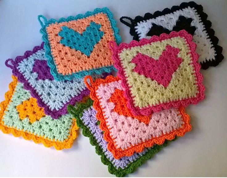 Agarraderas tejidas al crochet