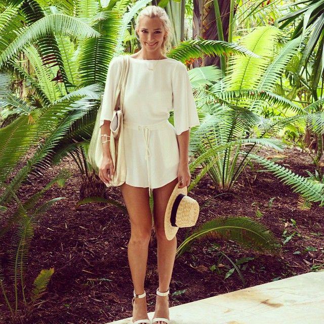 Anna Heinrich.. Bec & Bridge jumpsuit, and Kardashian Kollection shoes..