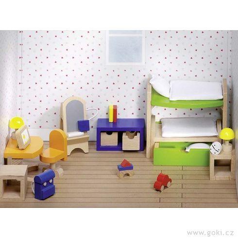 Nábytek propanenky – dětský pokoj TREND, 28dílů - Goki
