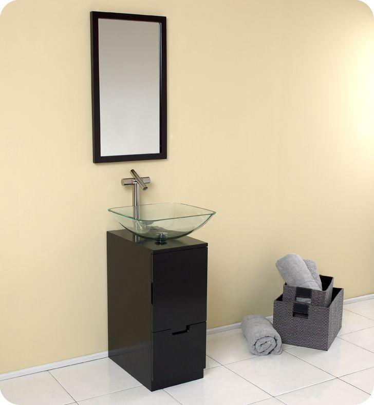 Image Gallery Website Fresca Brilliante Espresso Small Modern Bathroom Vanity w Mirror Faucet