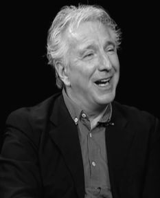 February 28, 2012 -- Alan Rickman during a Charlie Rose interview.