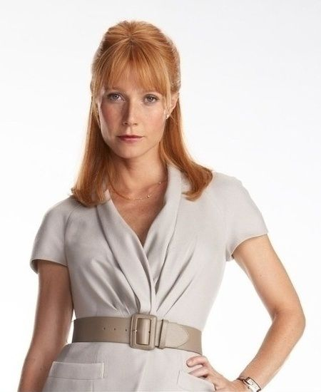 Pepper Potts.Gwyneth Paltrow.  Even more beautiful as a redhead.  She's so darned cute anyhow.