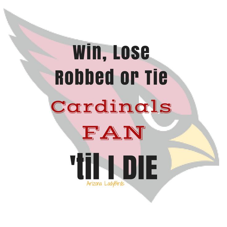 Arizona Cardinals Win Lose or Tie 2016 NFL Football Club #BeRedSeeRed @ArizonaLadyBirds