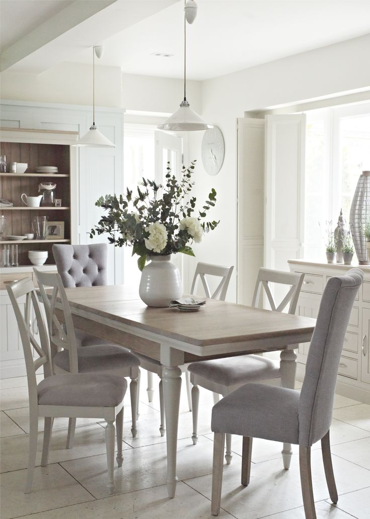 17 best ideas about gray dining rooms on pinterest grey for Oak dining room ideas