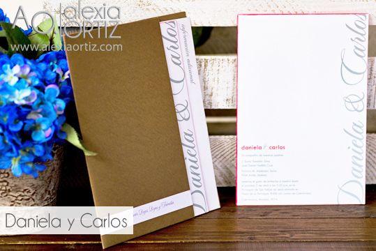 Invitaciones de boda tipo folder / invitaciones de boda/ wedding invitations