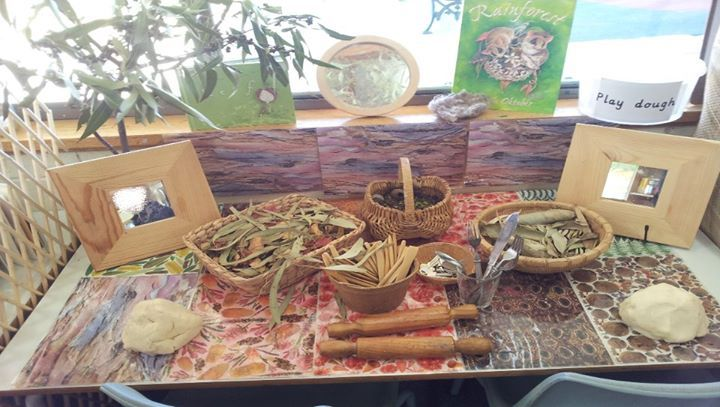 "Exploring & engaging with natural materials & play dough - from Australian Early Childhood Education Network ("",)"