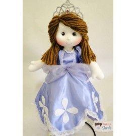 Boneca de Pano Princesinha Sofia 40cm
