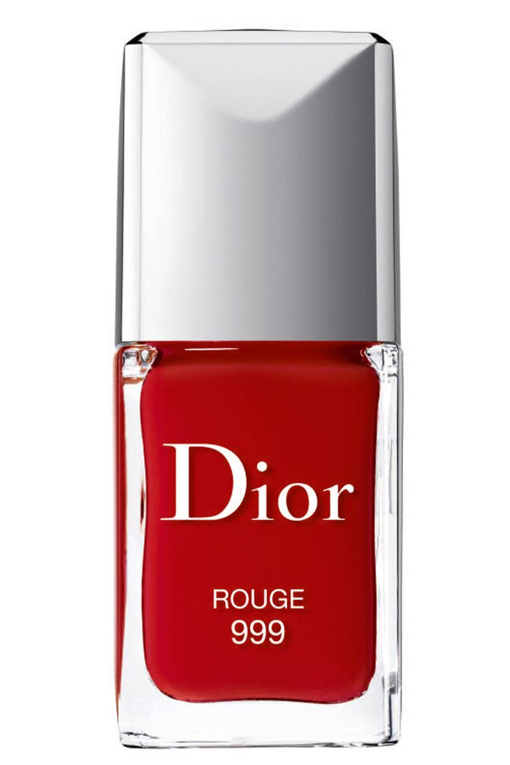Girl On Fire: Fall's 10 Prettiest Red Polishes. Dior Rouge Vernis 999, $24, dior.com.