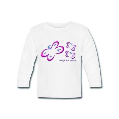 Camiseta infantil Mariposas - Butterfly Children T-Shirt - #Shop #Gift #Tienda #Regalos #Diseño #Design #LaMagiaDeUnSentimiento #MagiaYColor #ElBosqueDeXana #MaderaYManchas #mariposa #butterfly #transformación #rosa #pink #babero #bib #kid #children #boy #girl #baby #tshirt