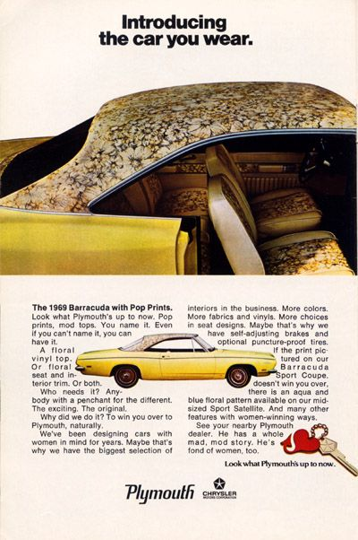 Vintage 1969 Barracuda with Pop Prints