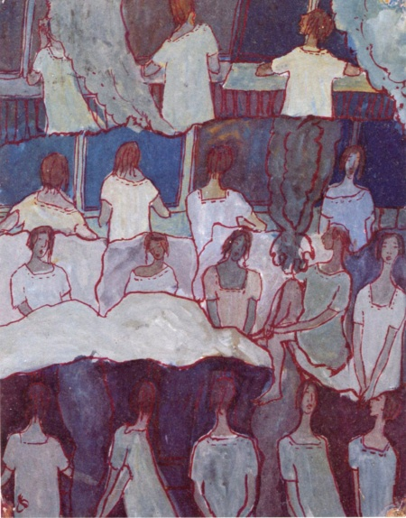 Charlotte Salomon, from Life? or Theater? 1940-1943 Gouache on paper (Courtesy Contemporary Jewish Museum)