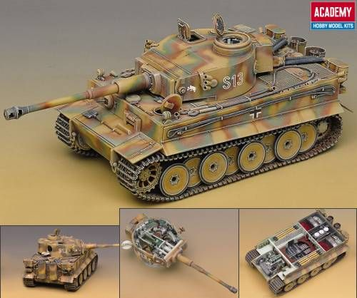Academy Tiger 1 Early Version (Interior). 1:35 scale.   Hobbies