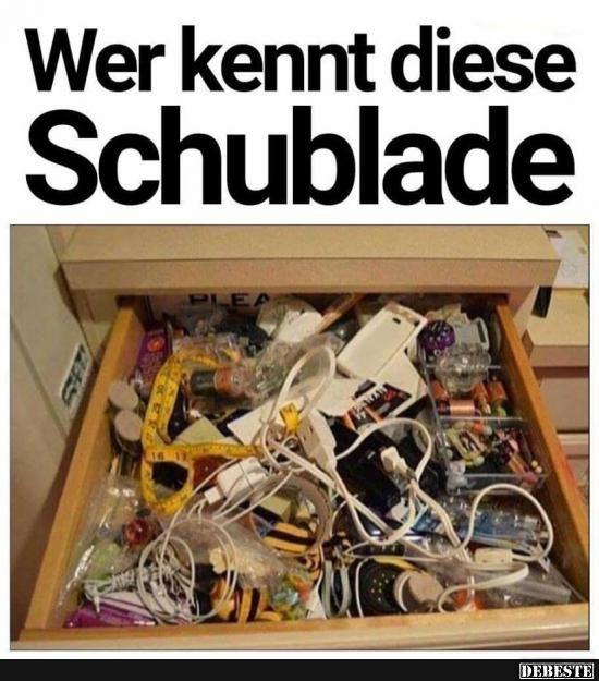 Wer kennt diese Schublade..