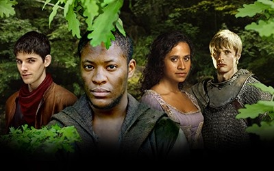 Merlin, Elyan, Gwen, and Arthur. that a great episode!