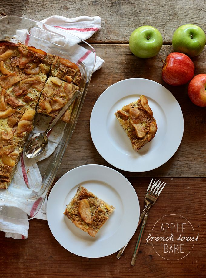 Apple French Toast Bake | 7 ingredients | minimalistbaker.com