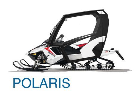 Polaris snowmobile with cabin (450×319)