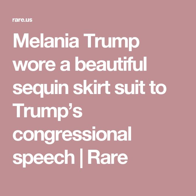 Melania Trump wore a beautiful sequin skirt suit to Trump's congressional speech | Rare