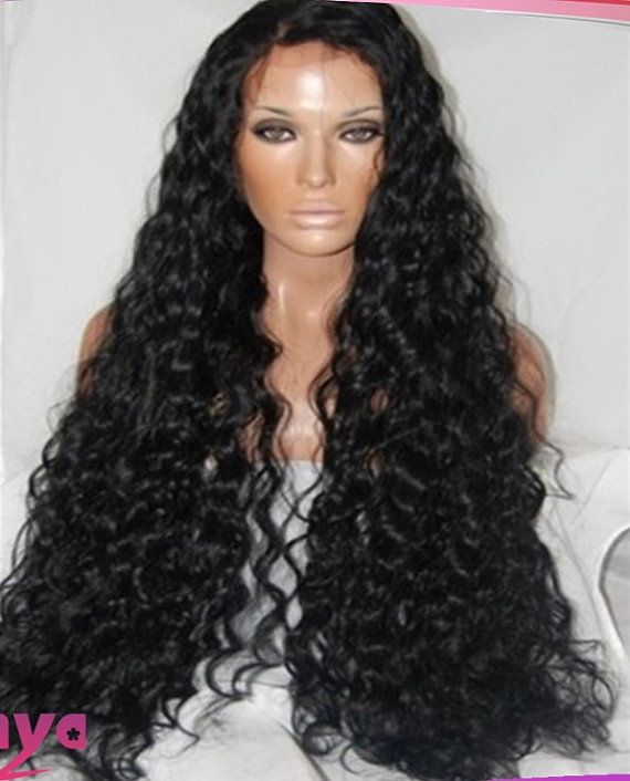 Super Long Curly// Indian Remy Hair// Full Lace Wig// Part Anywhere 28 ...