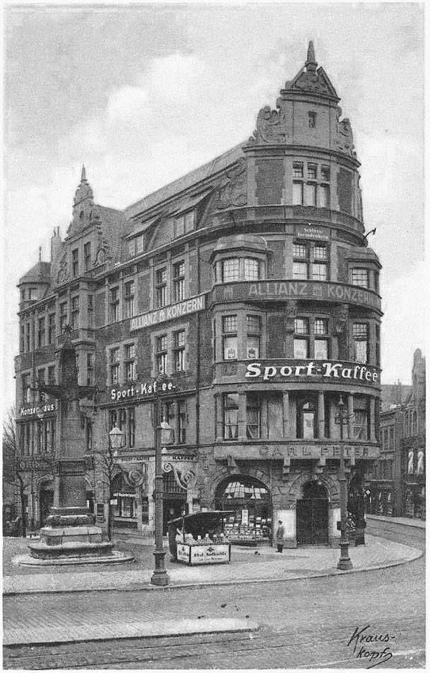 Кёнигсберг. Спорт-кафе на Монетной площади, на углу Французской улицы, ок. 1928 года