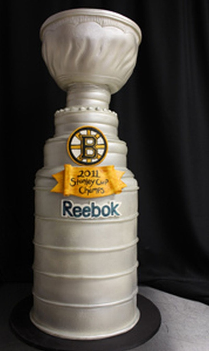Boston bruins cake pic only stanley cup