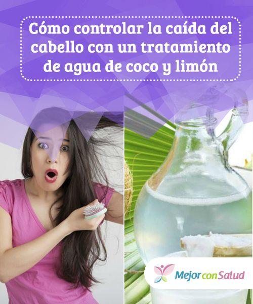 Cómo controlar la caída del  cabello con un tratamiento de agua de  coco y  limón Además de evitar el uso excesivo de elementos de calor a96101d62f20