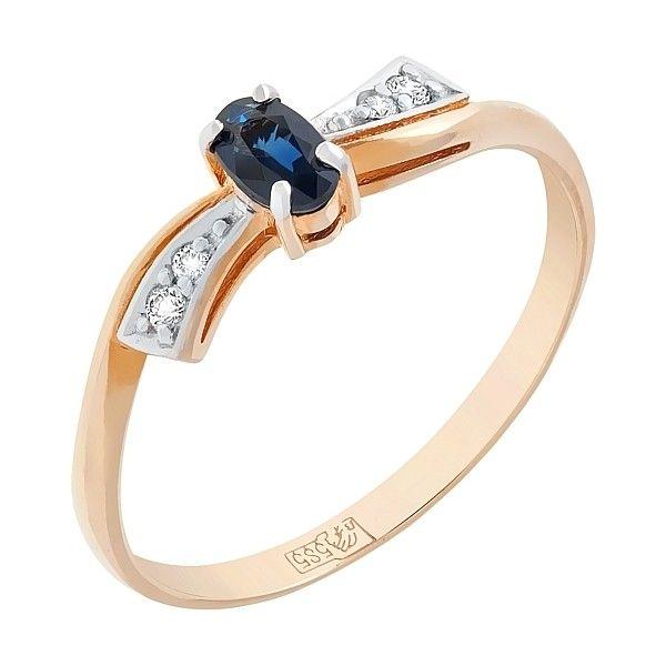 Кольцо с бриллиантом и сапфиром mg_83132