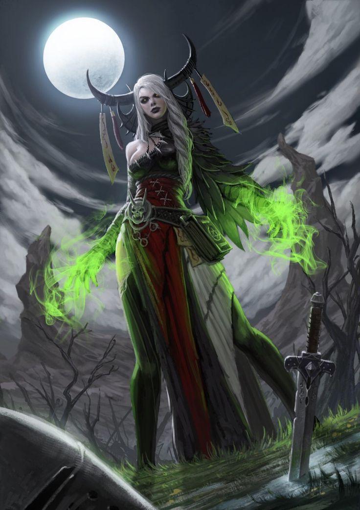 zombie witch | magician wizard | character design concept idea | dark fantasy art