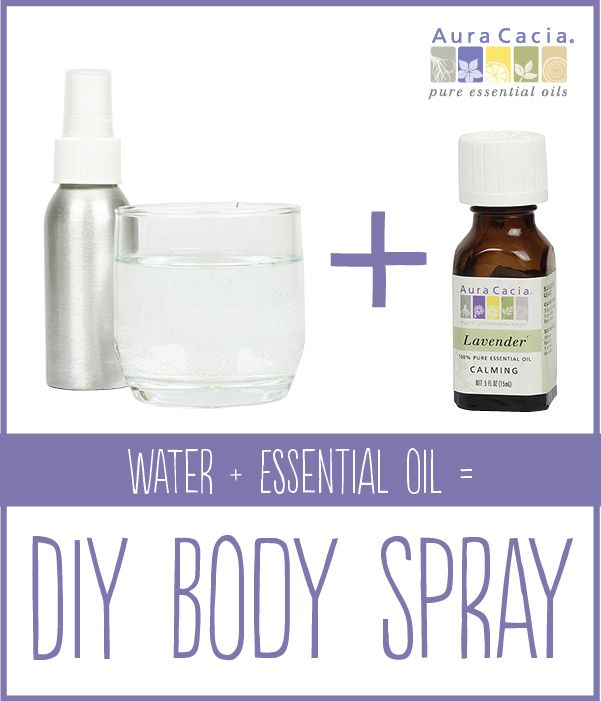 Refresh, hydrate and scent your skin with this simple, 2-ingredient body spray.