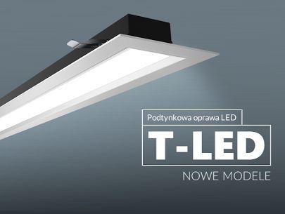 Nowe modele oprawy T-LED Wąska, nowoczesna oprawa podtynkowa T-LED wykonan…