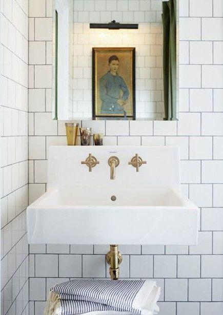 Brass Bathroom Fixtures Mandy Milk S Master Bath With