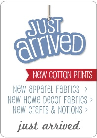 Fabric.com a source for fabrics online, reasonably priced. All orders over $35 are free.
