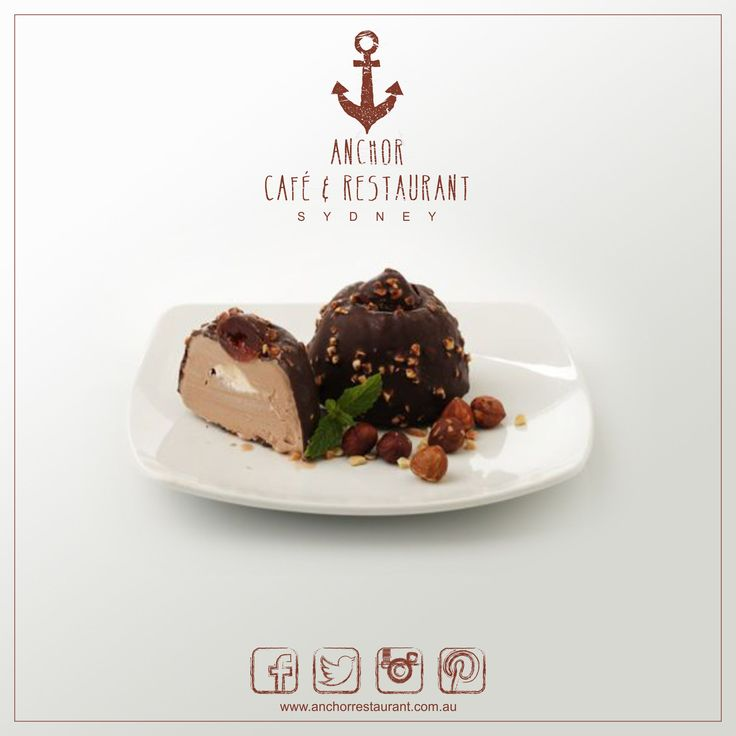 Baci Kiss  Gelato Desserts ⚓ ANCHOR Cafe & Restaurant - Taste the difference! A smooth chocolate and hazelnut blend of gelato around a soft centre of cream nougat and finely encased in a nut sprinkled chocolate shell with a cherry on top. #anchor #anchorcafe #anchorrestaurant #anchorestaurant #milsonspoint #kirribilli #lavenderbay #northsydney #northshore #mosman #bacikiss #baci #kiss #chocolate #hazelnut #gelato #cream #nougat #nut #nuts #cherry #cherries #dessert #food #yum #icecream