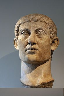 Emperor Constantine in the fourth century CE made the capital Constantinepole.  Separate emperors ruled from it after his death.  Pictured here is a bust of Constantine.