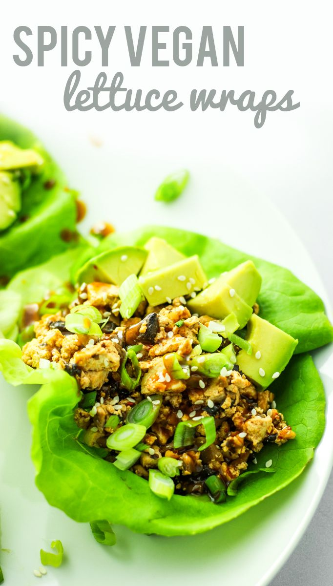 Spicy Tofu Mushroom Lettuce Wraps – Better than P.F. Chang's and SO easy. I make these once a week – perfect for cheap meal prep!