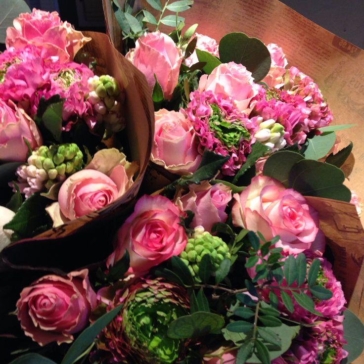 #bukett #romantisk #rosa
