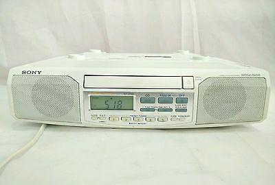 Sony Mega Bass ICF-CD513 Under Cabinet Kitchen Camper Clock Radio AMFM CD Player