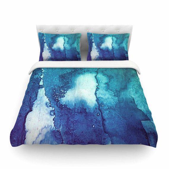 Blue bedding Blue duvet Blue and green duvets Green by StudioMalia
