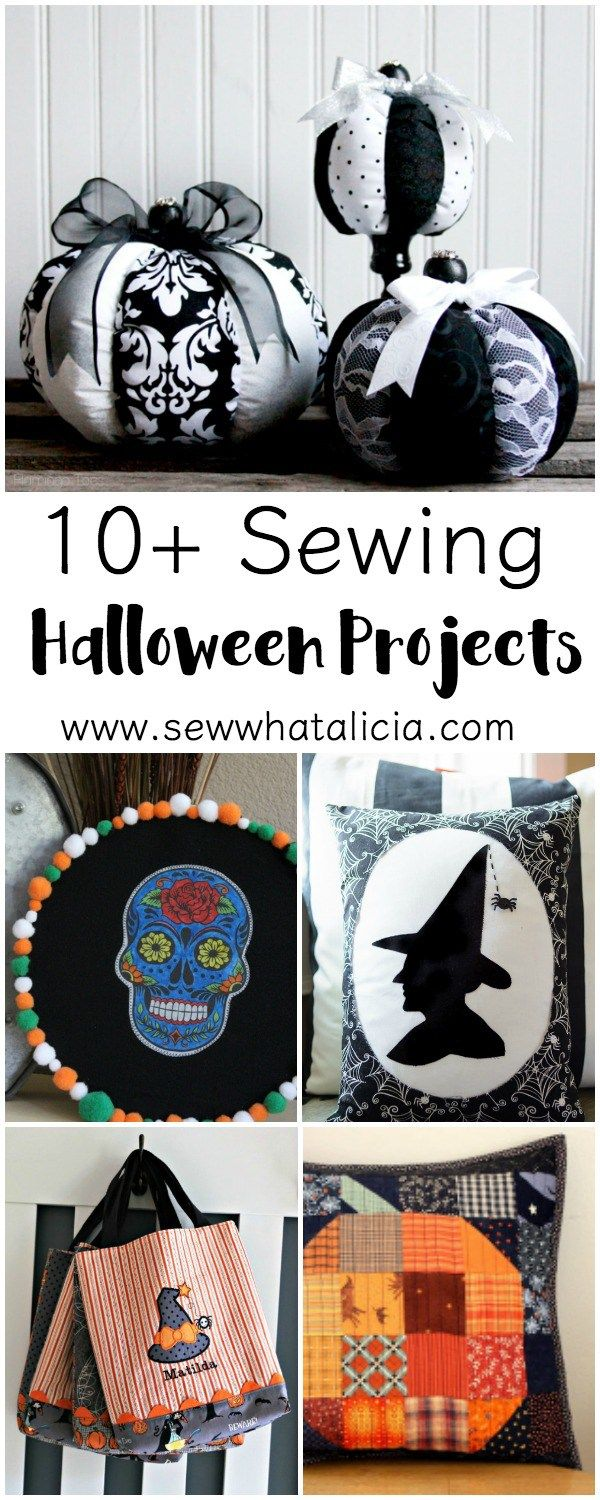 So many cute Halloween sewing projects! 10+ cute Halloween Patterns to Sew this…
