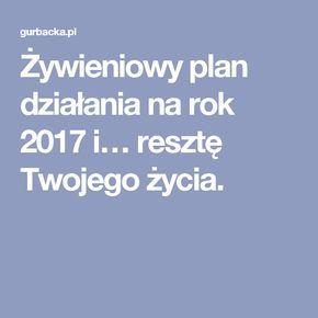 Żywieniowy plan działania na rok 2017 i… resztę Twojego życia.