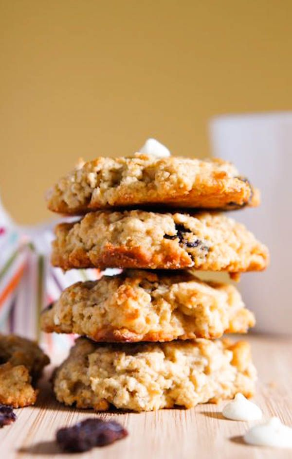 White Chocolate, Quinoa, and Dried Cranberries Cookies