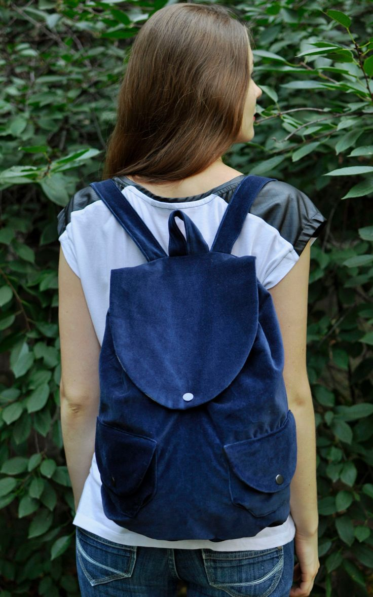 Velvet Navy Backpack Blue velvet rucksack city back pack light backpack women's rucksack womans backpack fabric backpack velvet purse fabric backpack city backpack velvet velvet backpack womens backpack navy backpack blue backpack blue velvet navy rucksack lightweight backpack ukraine dailyetsysales velvet bag 29.00 USD #goriani