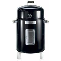 The Brinkmann Corporation manufacturers a variety of both dry and water charcoal smokers. Water smokers use a large pan of water or marinade to baste meat during cooking and help regulate the temperature. Dry smokers cook more quickly and offer the option