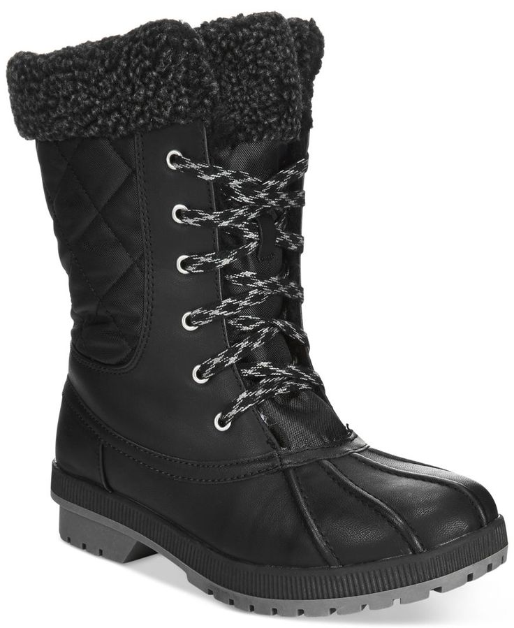 London Fog Women's Swanley Lace-Up Cold Weather Boots